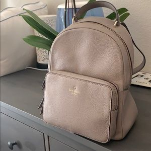 Kate Spade Taupe Gray Backpack Purse